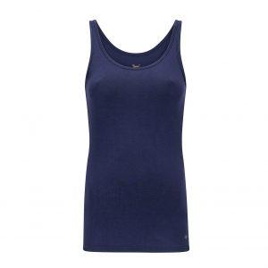 donkerblauw hemdje met brede bandjes
