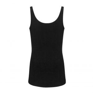zwart hemdje met brede bandjes