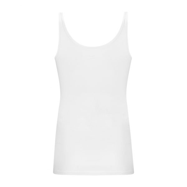 Wit hemdje met brede bandjes achterzijde