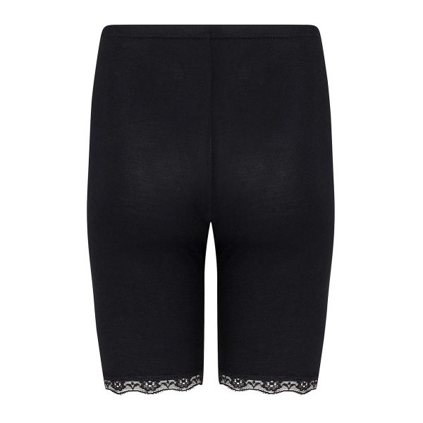 Zwart broekje kant met korte pijpjes