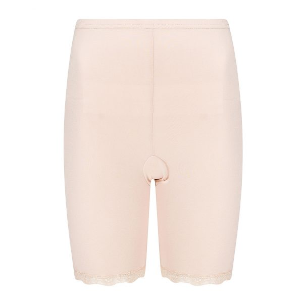 nude - huidskleurig broekje met pijpjes tegen schurende benen en zacht elastisch kantje