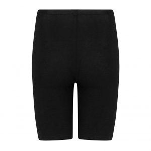 zwart broekje met pijpjes dat helpt tegen schurende benen